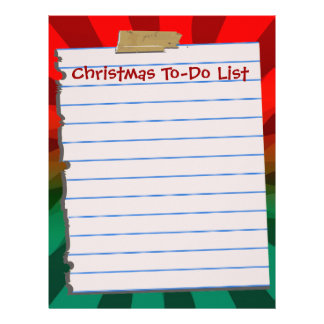 Christmas To-Do List Letterhead Stationery