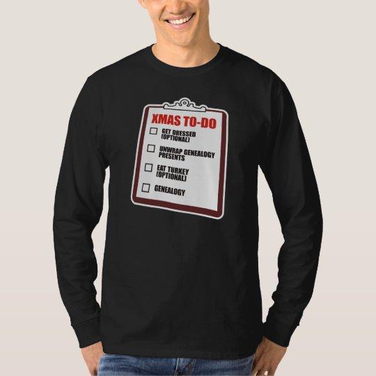 Christmas To-Do List T-Shirt
