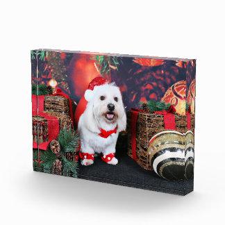 Christmas - Toby - Mixed Breed Acrylic Award