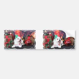 Christmas - Toby - Mixed Breed Bumper Sticker