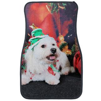 Christmas - Toby - Mixed Breed Car Mat