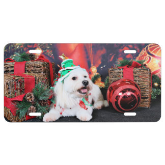 Christmas - Toby - Mixed Breed License Plate