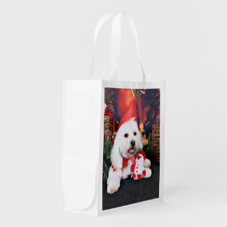 Christmas - Toby - Mixed Breed Reusable Grocery Bags