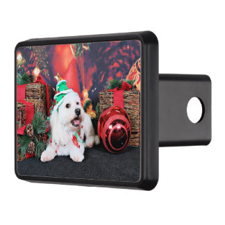 Christmas - Toby - Mixed Breed Trailer Hitch Cover