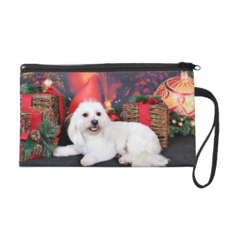 Christmas - Toby - Mixed Breed Wristlet Purse