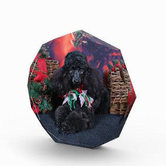 Christmas - Toby - Poodle Acrylic Award