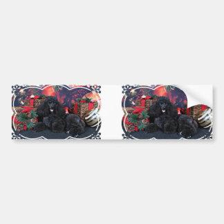 Christmas - Toby - Poodle Bumper Sticker