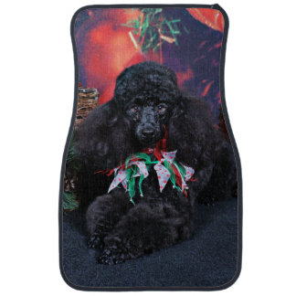 Christmas - Toby - Poodle Car Mat