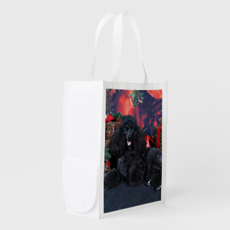 Christmas - Toby - Poodle Grocery Bag