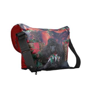 Christmas - Toby - Poodle Messenger Bag