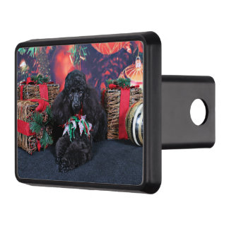 Christmas - Toby - Poodle Trailer Hitch Cover