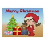 Christmas Toddler Girl Greeting Card