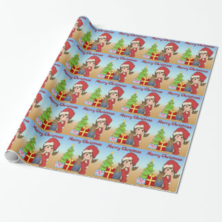Christmas Toddler Girl Wrapping Paper