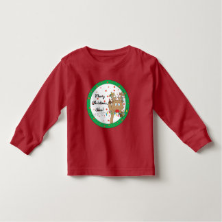 Christmas Toddler Long Sleeve Tee/Rudolph Toddler T-shirt