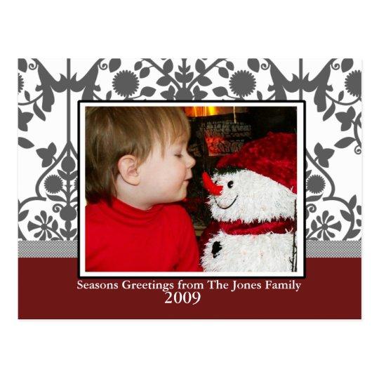 Christmas Toile Postcard