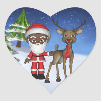 Christmas Toon Santa Baby Rudolph Elf Sticker
