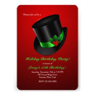 Christmas Top Hat Invitation