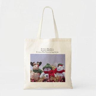 Christmas Tote Bag Gift - Snowman, Reindeer, Bear