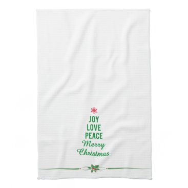 Christmas Themed Christmas Towel with Christmas Tree