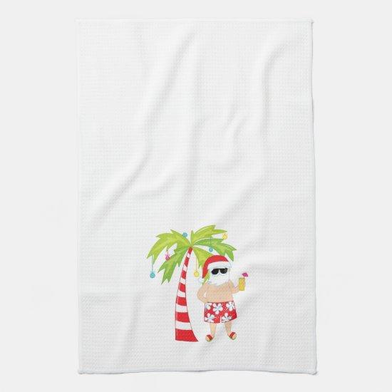 Christmas Towel with Tropical Santa
