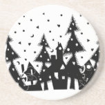 Christmas Town Beverage Coaster