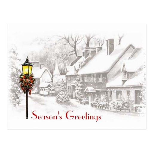 Christmas Town Business Postcard
