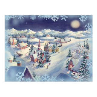 CHRISTMAS TOWN by SHARON SHARPE Postcard