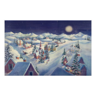 CHRISTMAS TOWN by SHARON SHARPE Poster