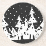 Christmas Town Drink Coasters