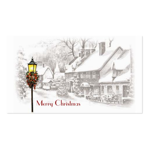 Christmas Town Gift Tags Business Card
