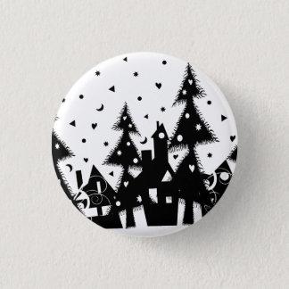 Christmas Town Pinback Button