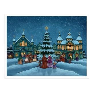 christmas town postcard basic