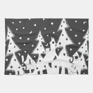 Christmas Town Towels