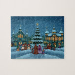 christmas town winter holiday puzzles