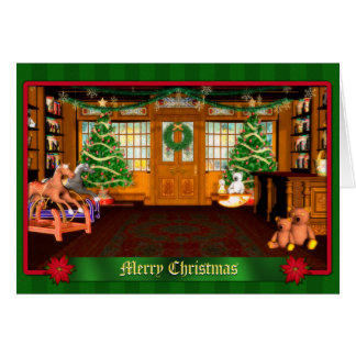 Christmas Toy Shop Holiday Greeting Card