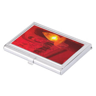 Christmas Toy Soldiers and Candle Business Card Case