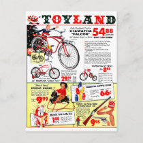 Christmas Toyland Holiday Postcard