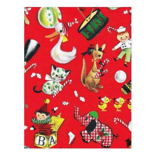 Christmas Toys Post Card