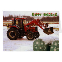 Christmas Tractor Card