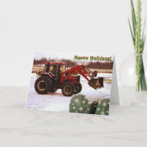 Christmas Tractor Holiday Card