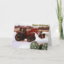 Christmas Tractor Holiday Card
