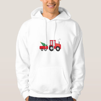 Christmas Tractor Hoodie