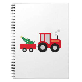 Christmas Tractor Notebook