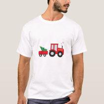 Christmas Tractor T-Shirt