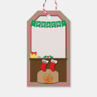 Christmas Traditional Non-Religious • 2 Stockings Gift Tags