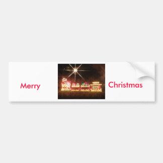 Christmas Train Bumper Sticker