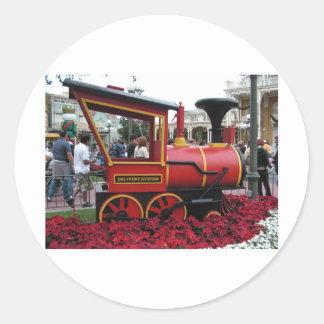 Christmas Train Classic Round Sticker