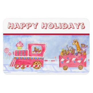 Christmas Train Flexi Magnet