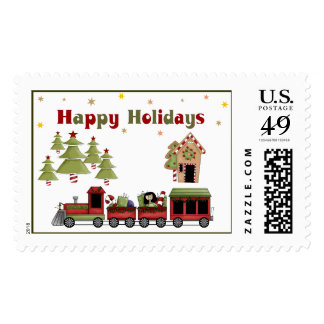Christmas Train Holiday Postage