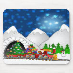 Christmas Train Mousepad
